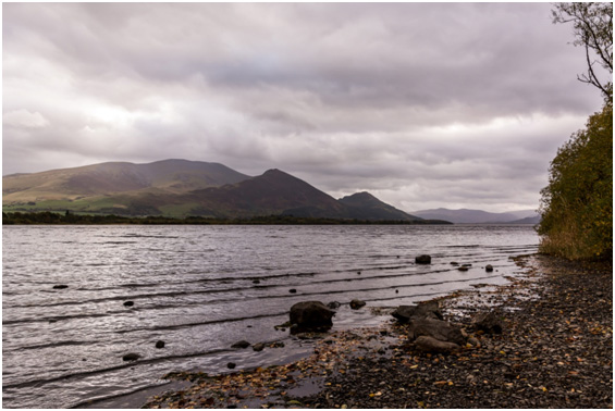 Bassenthwaite lake up to skiddaw range